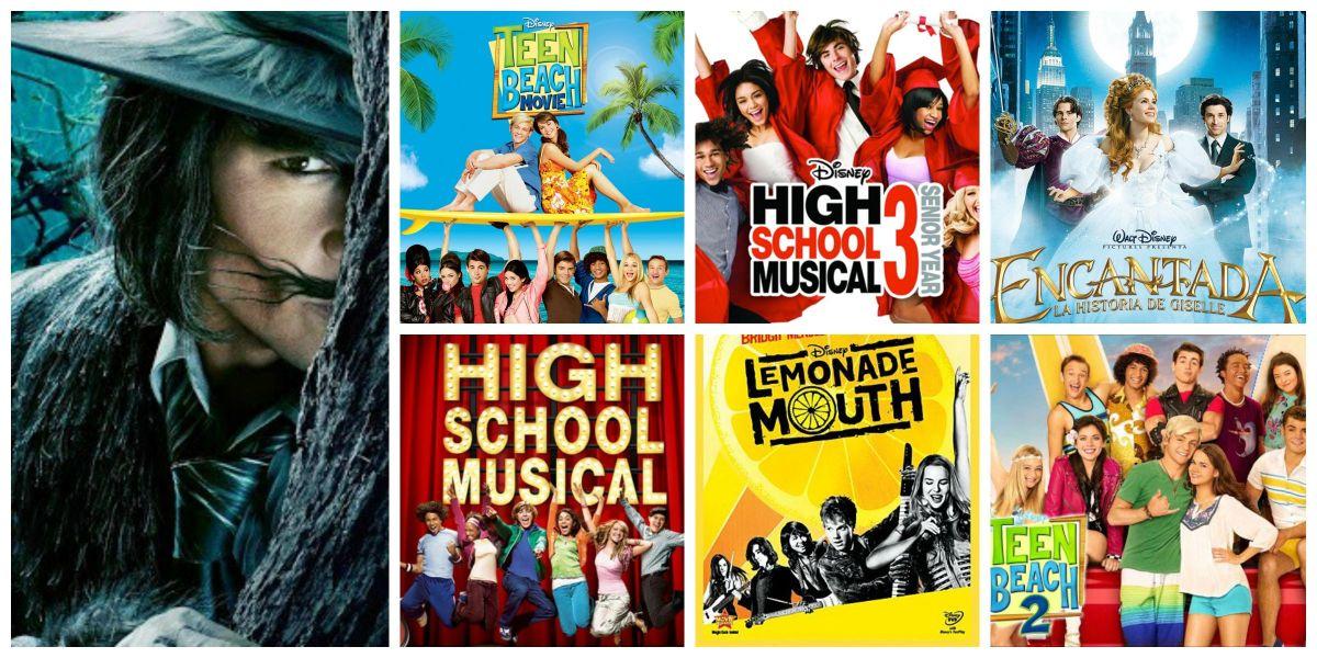 7 vídeos de películas musicales de Disney.